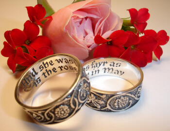 and she was fayr as is the rose in may - Scottish Wedding Rings